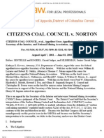 Citizens Coal Council v Norton