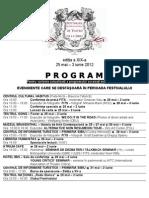 Program Festivalul International de Teatrul Sibiu