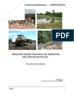 Segundo Censo Nacional Desechos Solidos