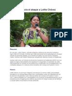 GHRC Denuncia el ataque a Lolita Chávez