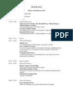 Programa v Coloquio Leonardo Manrique.
