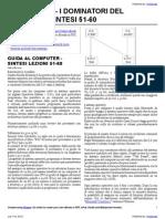 GUIDA AL COMPUTER – SINTESI LEZIONI 51-60