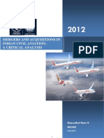 AL II Mergers and Aquistions in Indian Civil Aviation