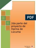 Proceso Productivo de La Lucuma en Harina