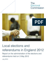 Electoral Commission Report Into May 2012 Elections