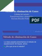Metodo de Eliminacion de Gauss