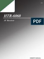 HTR 6060 Manual