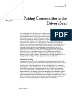 Putting Communities in the Driver's Seat