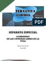 Revista Cátedra Libre - Separata