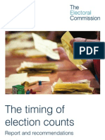 The Timing of Election Counts - Electoral Commission Report