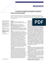 Prevention of Pain on Injection of Propofol