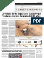 La tumba de un dignatario lambayeque revela sus tesoros después de 800 años