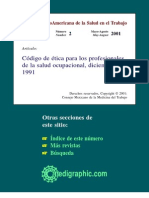 Codigo de Etica Salud Ocupacional