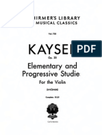 Kayser 36 Studies Op 20 for Violin