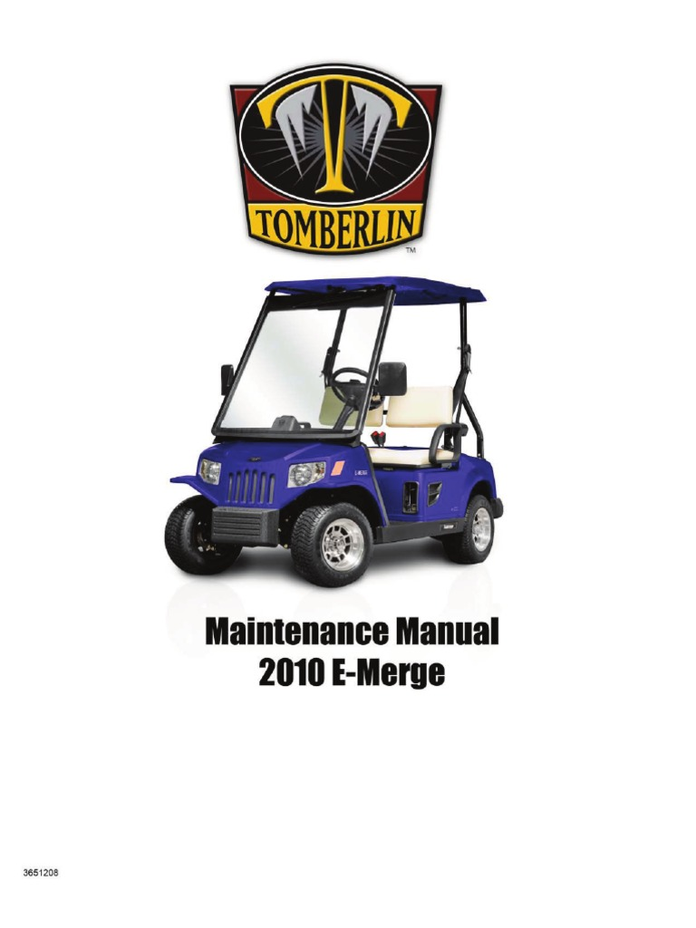 2010 emerge service manual steering battery charger rh scribd com tomberlin emerge golf cart manual tomberlin golf cart specs