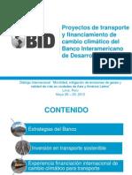 Proyectos Transporte Financiamiento Bid