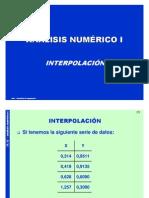 Interpolacion y Ajustedecurvas 2009