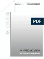 X Series Amplifier Manual