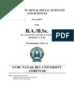 BA Semester I and II