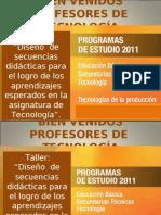 BIENVENIDOS PROFESORES DE  TECNOLOGÍA 2
