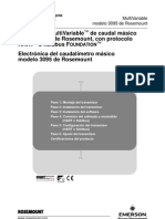 Transmisor Multivariable de Caudal Masico 3095 Hart Protocolo