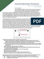 PDMS Microchannel Fabrication Procedure