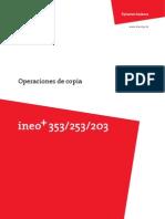 Ineo Plus 353 253 203 Copy Operations 2-1-1 Es