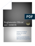 Reglamento Oficial Del I BIMUN