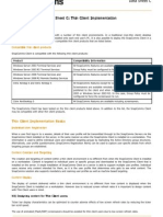 Datasheet C Thin Client Implementation