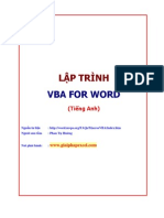 Lap Trinh VBA for Word