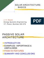 Passive Solar Architecture