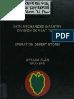24th Mechanized Infantry OPLAN 91-3