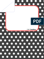 Polka Dot Section Dividers for Teacher Binder