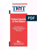 Pullout Capacity of Large Tent Stakes
