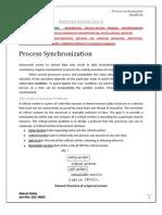 OS Process synchronization, Deadlocks