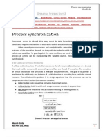 OS Process synchronization, Deadlocks