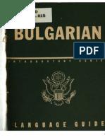 TM 30-345 Bulgarian Language Guide 1943
