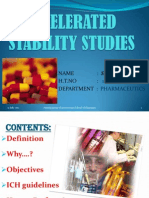 A Ppt on Accelerated Stability Studies