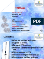 A Ppt on Prefilled Syringes