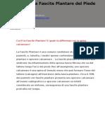 Newsletter_Fascite Plantare Del Piede