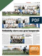 Publicación Fin de temporada 2011 - 2012 en Futbolcity