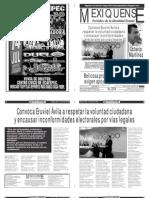Versión impresa del periódico El mexiquense 13 julio 2012
