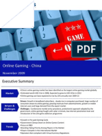 Market Research China - Online Gaming Market in China 2009