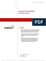 Leveraging Cloud for Product Testing- Impetus White Paper