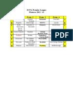 ECFA Premier League Fixtures 20122013