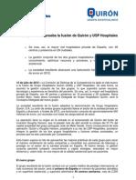 2012 07 12 Competencia aprueba la fusión de Quirón y USP Hospitales