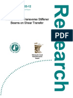 The Effects of Transverse Stiffener Beams on Shear Transfer