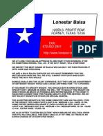Catalog Lonestar Balsa