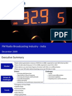 Market Research India - FM Radio Broadcasting Industry in India 2009