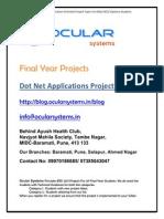 Dot net Applications Projects BCA BCS Diploma